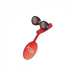 Kompaktní oční sprcha se dvěma hlavicemi, červená