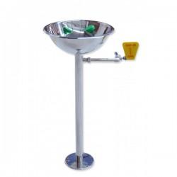 EconomyLine - Volně stojící nerezová kompaktní oční sprcha s miskou