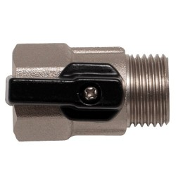 Údržbový kulový ventil s odnímatelnou spouštěcí pákou