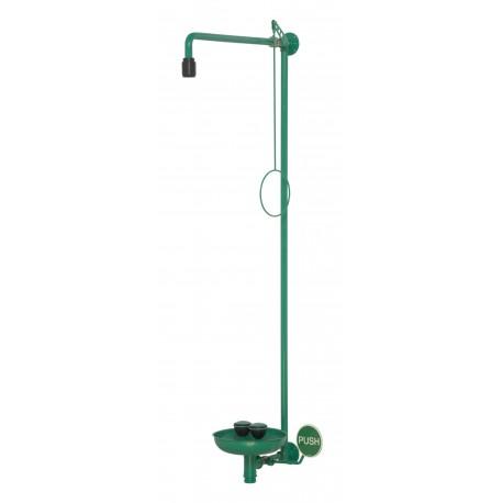 Tělní sprcha s kompaktní oční sprchou, s miskou, na omítku