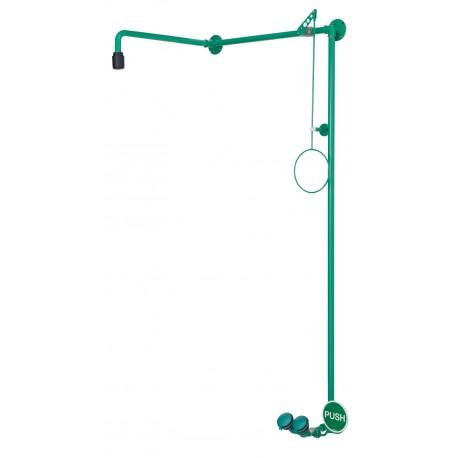 Tělní sprcha s kompaktní oční sprchou, nad dveře, na omítku