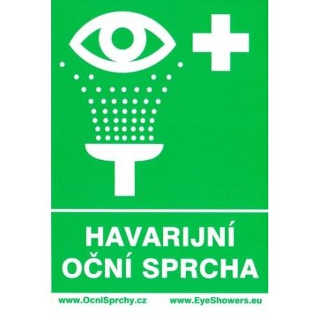 Piktogram oční sprcha - 2 ks